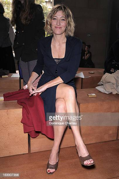 Valeria Bruni Tedeschi attends the Miu Miu Spring/Summer 2013 show as part of Paris Fashion Week on October 3 2012 in Paris France