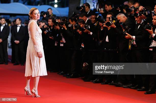 Valeria Bruni Tedeschi attends the 'Slack Bay ' premiere during the 69th annual Cannes Film Festival at the Palais des Festivals on May 13 2016 in...