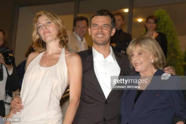 Valeria Bruni Tedeschi Francois Ozon and Jeanne Moreau