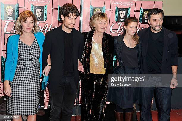 Valeria Bruni Tedeschi Louis Garrel Marisa Bruni Tedeschi Celine Sallette and Filippo Timi attend the 'Un Chateau En Italie' Paris Premiere at cinema...