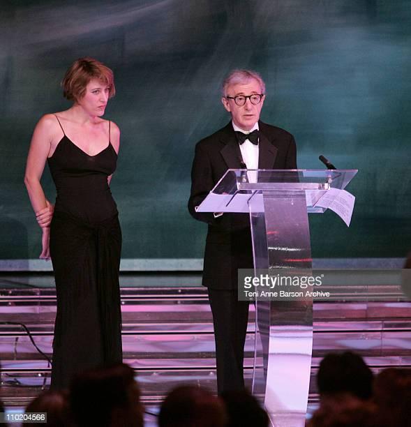 Valeria BruniTedeschi and Woody Allen opening the Gala