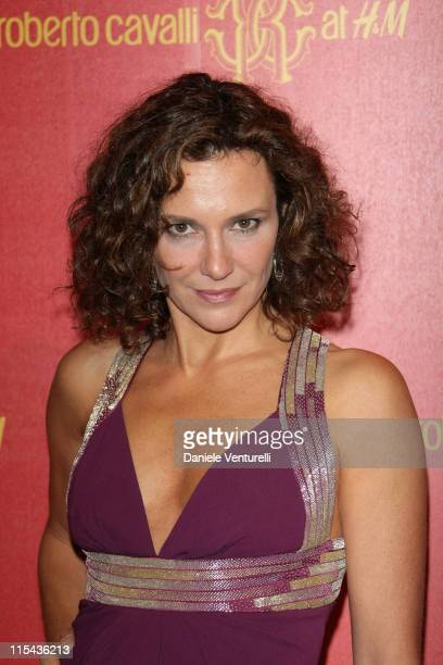 Valeria Cavalli attends the Roberto Cavalli at HM collection launch party on October 25 2007 in Rome Italy