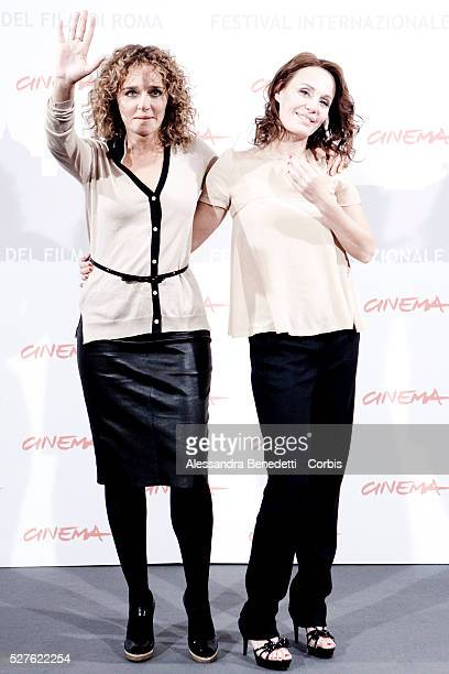 Valeria Golino and Antonella Ponziani at the photocall of movie 'La Scuola �� finita' during the 5th International Rome Film Festival