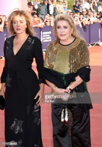 Valeria Golino and Catherine Deneuve attend the Award Ceremony during the 45th Deauville American Film Festival on September 14 2019 in Deauville...