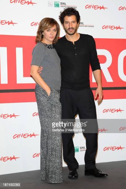 Valeria Golino and Francesco Scianna attend the 'Come Il Vento' Photocall during the 8th Rome Film Festival at the Auditorium Parco Della Musica on...