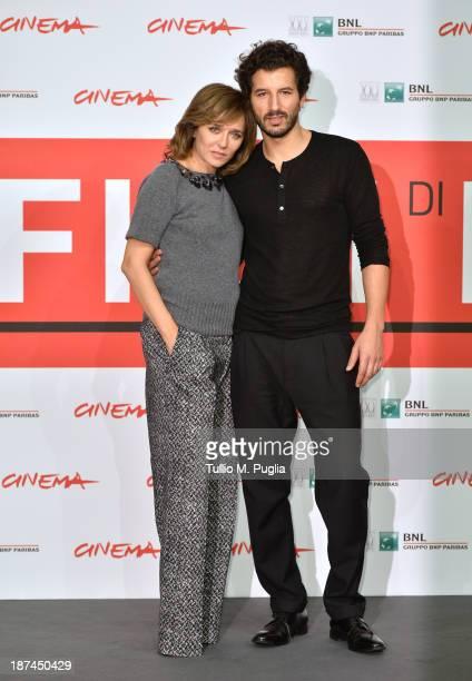 Valeria Golino and Francesco Scianna attend the 'Come Il Vento Photocall' Photocall during the 8th Rome Film Festival at the Auditorium Parco Della...