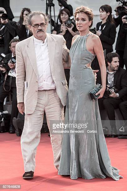 Valeria Golino and Giuseppe M Gaudino attend the premiere of Movie Per amor vostro presented in competition during the 72nd International Venice Film...