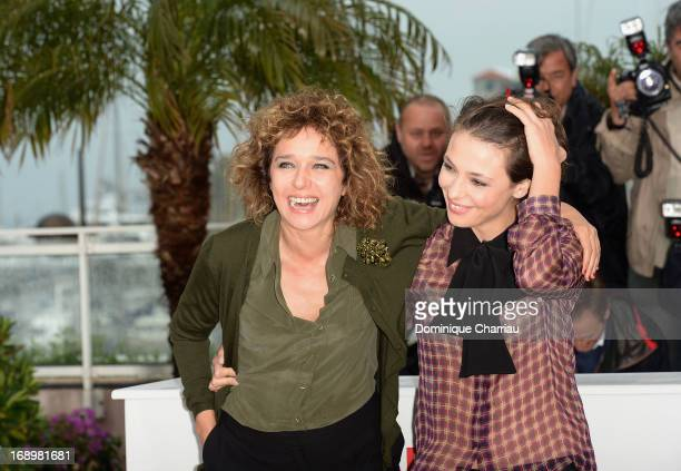 Valeria Golino and Jasmine Trinca attend the photocall for 'Miele' during The 66th Annual Cannes Film Festival at Palais des Festivals on May 18 2013...