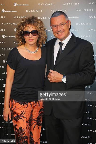 Valeria Golino and Jean-Christophe Babin attend the 'Isabella Ferrari Forma/Luce' cocktail party at Horti Sallustiani on July 13, 2014 in Rome, Italy.