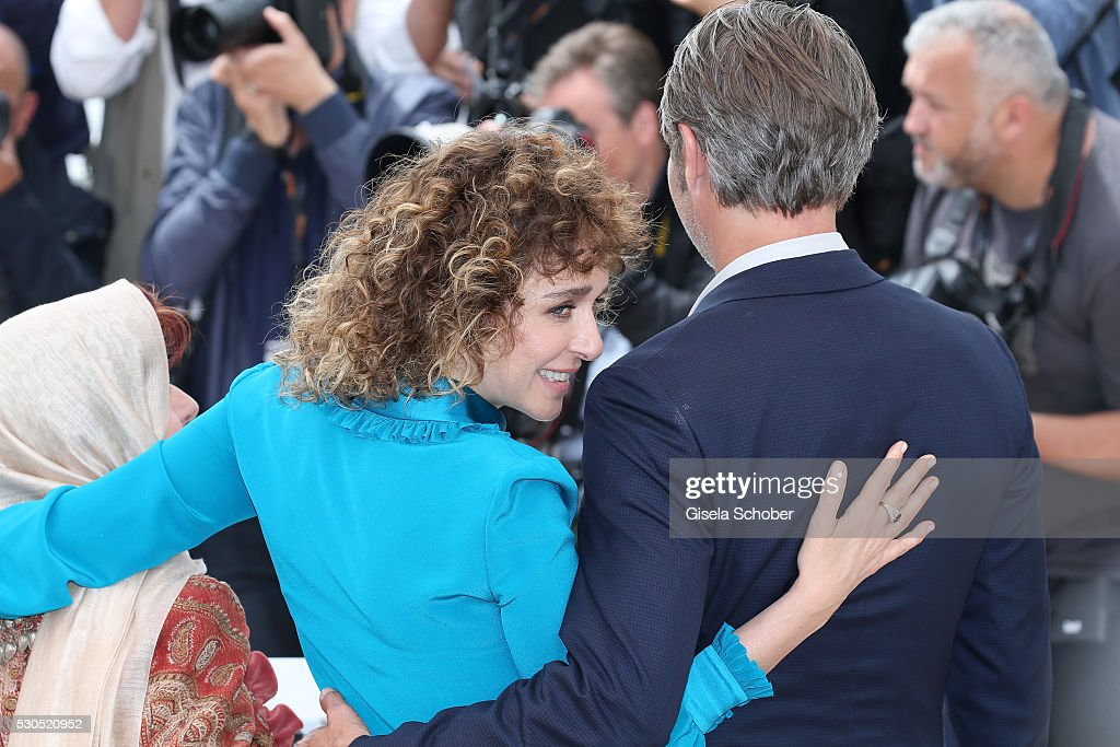 Valeria Golino and Mads Mikkelsen attend the Jury Photocall during the 69th Annual Cannes Film Festival at the Palais des Festivals on May 11, 2016 in Cannes, France.