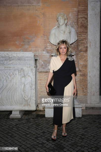 Valeria Golino arrives at the Gucci Cruise 2020 at Musei Capitolini on May 28, 2019 in Rome, Italy.