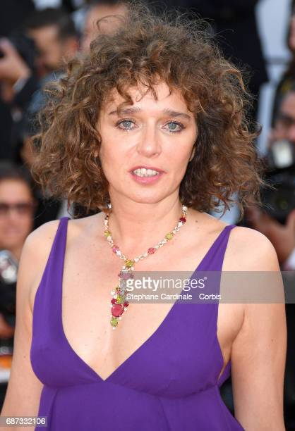 Valeria Golino attends the 70th Anniversary screening during the 70th annual Cannes Film Festival at Palais des Festivals on May 23 2017 in Cannes...