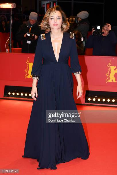 Valeria Golino attends the 'Daughter of Mine' premiere during the 68th Berlinale International Film Festival Berlin at Berlinale Palast on February...