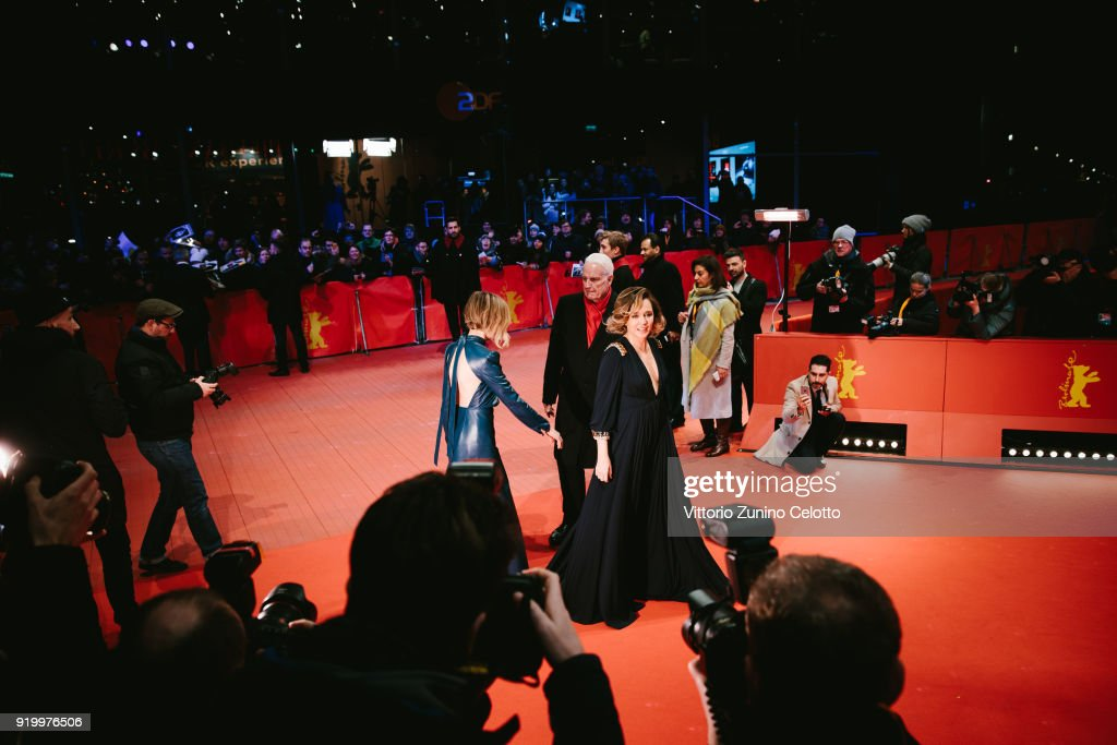 Valeria Golino attends the 'Daughter of Mine' (Figlia Mia) premiere during the 68th Berlinale International Film Festival Berlin at Berlinale Palast on February 18, 2018 in Berlin, Germany.