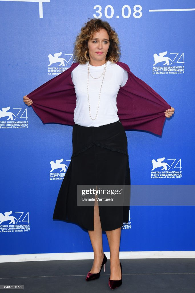 Valeria Golino attends the 'Emma (Il Colore Nascosto Delle Cose)' photocall during the 74th Venice Film Festival at Sala Casino on September 7, 2017 in Venice, Italy.