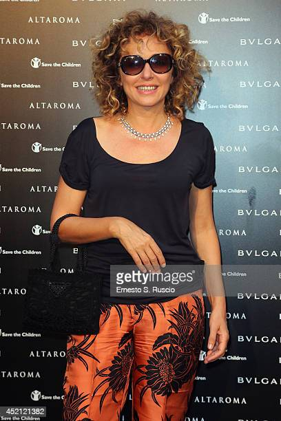 Valeria Golino attends the 'Isabella Ferrari Forma/Luce' cocktail party at Horti Sallustiani on July 13, 2014 in Rome, Italy.