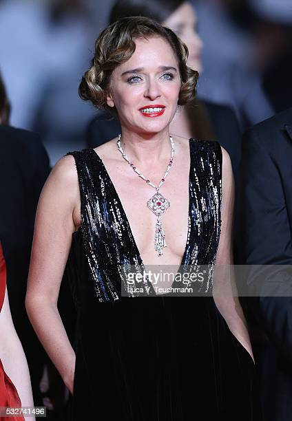 Valeria Golino attends the It's Only The End Of The World Premiere during the 69th annual Cannes Film Festival at the Palais des Festivals on May 19...