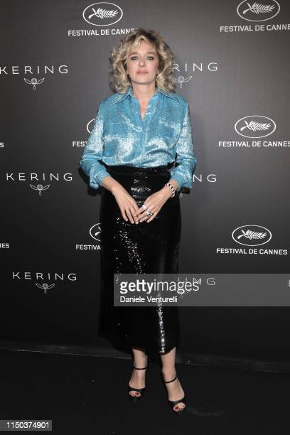 Valeria Golino attends the Kering and Cannes Film Festival Official Dinner at Place de la Castre on May 19 2019 in Cannes France