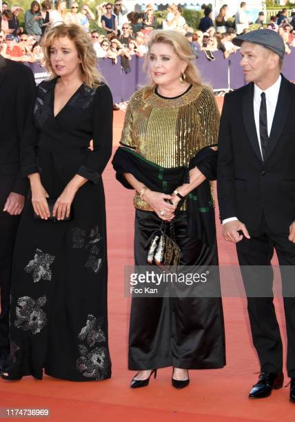Valeria Golino Catherine Deneuve and Gael Morel attend the Award Ceremony during the 45th Deauville American Film Festival on September 14 2019 in...
