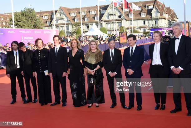 Valeria Golino Catherine Deneuve Gael Morel and members of the jury attend the Award Ceremony during the 45th Deauville American Film Festival on...