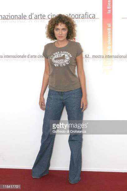 Valeria Golino during 2005 Venice Film Festival Texas Photocall at Venice Lido in Venice Italy