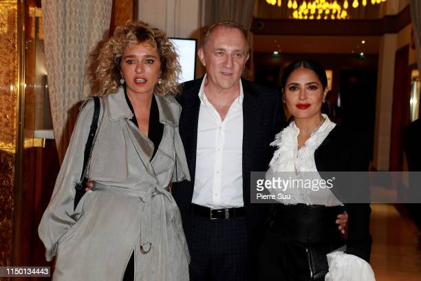 Valeria Golino Francois Henri Pinault and Salma Hayek is seen at the Majestic Hotel during the 72nd annual Cannes Film Festival at on May 18 2019 in...