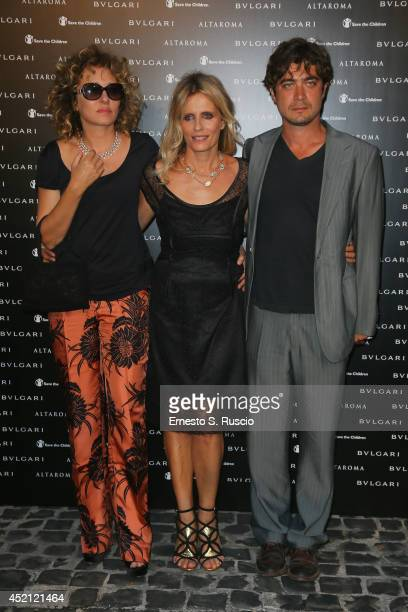 Valeria Golino, Isabella Ferrari and Riccardo Scamarcio attend the 'Isabella Ferrari Forma/Luce' cocktail party at Horti Sallustiani on July 13, 2014...