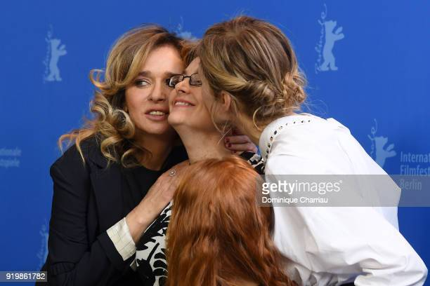 Valeria Golino Laura Bispuri and Alba Rohrwacher pose at the 'Daughter of Mine' photo call during the 68th Berlinale International Film Festival...