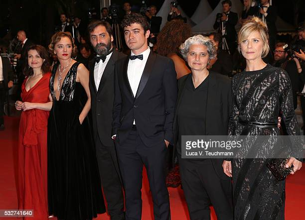 "Valeria Golino, Stefano Mordini, Riccardo Scamarcio, Viola Prestieri and Marina Fois attend the ""It's Only The End Of The World "" Premiere during the..."