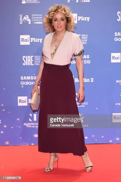 Valeria Golino walks a red carpet ahead of the 64 David Di Donatello awards ceremony Red Carpet on March 27 2019 in Rome Italy