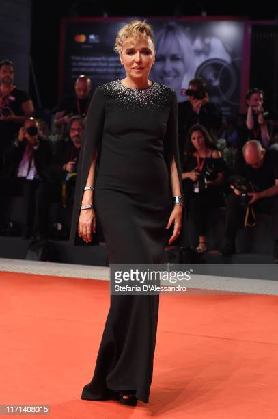 Valeria Golino walks the red carpet ahead of the Adults In The Room screening during the 76th Venice Film Festival at Sala Grande on August 31 2019...