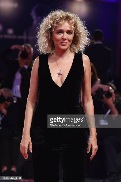 """Valeria Golino walks the red carpet ahead of the """"The Summer House """" screening during the 75th Venice Film Festival at Sala Grande on September 5,..."""
