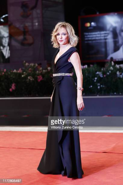 Valeria Golino walks the red carpet ahead of the Tutto il mio folle amore screening during the 76th Venice Film Festival at Sala Grande on September...