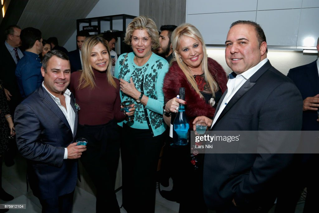 Valeria Henao, Patricia Kluge, Gina Defranco and John Mahdessian attend the Blu Perfer & Blue Brut Launch Party for The 2018 8th annual Better World Awards on November 15, 2017 in New York City.