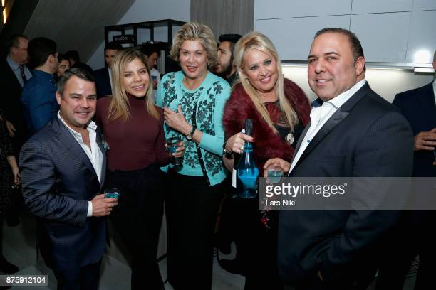 Valeria Henao Patricia Kluge Gina Defranco and John Mahdessian attend the Blu Perfer Blue Brut Launch Party for The 2018 8th annual Better World...