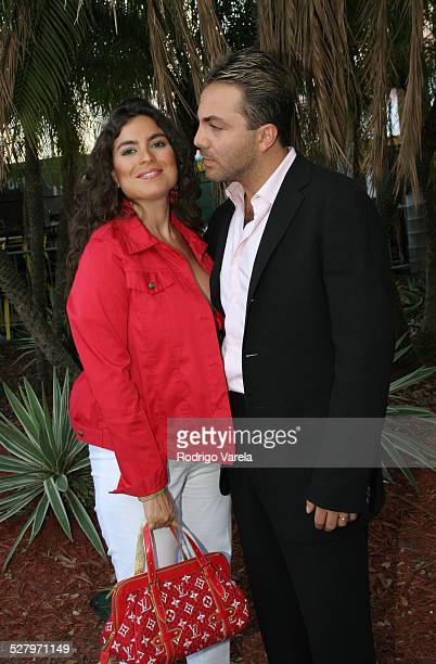 Valeria Liberman and Cristian Castro during 2005 Billboard Latin Music Awards and Conference Rehersals Day 2 at Miami Arena in Miami Florida United...
