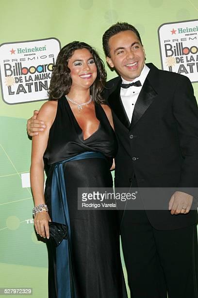Valeria Liberman and Cristian Castro during 2005 Billboard Latin Music Awards Press Room at Miami Arena in Miami Florida United States