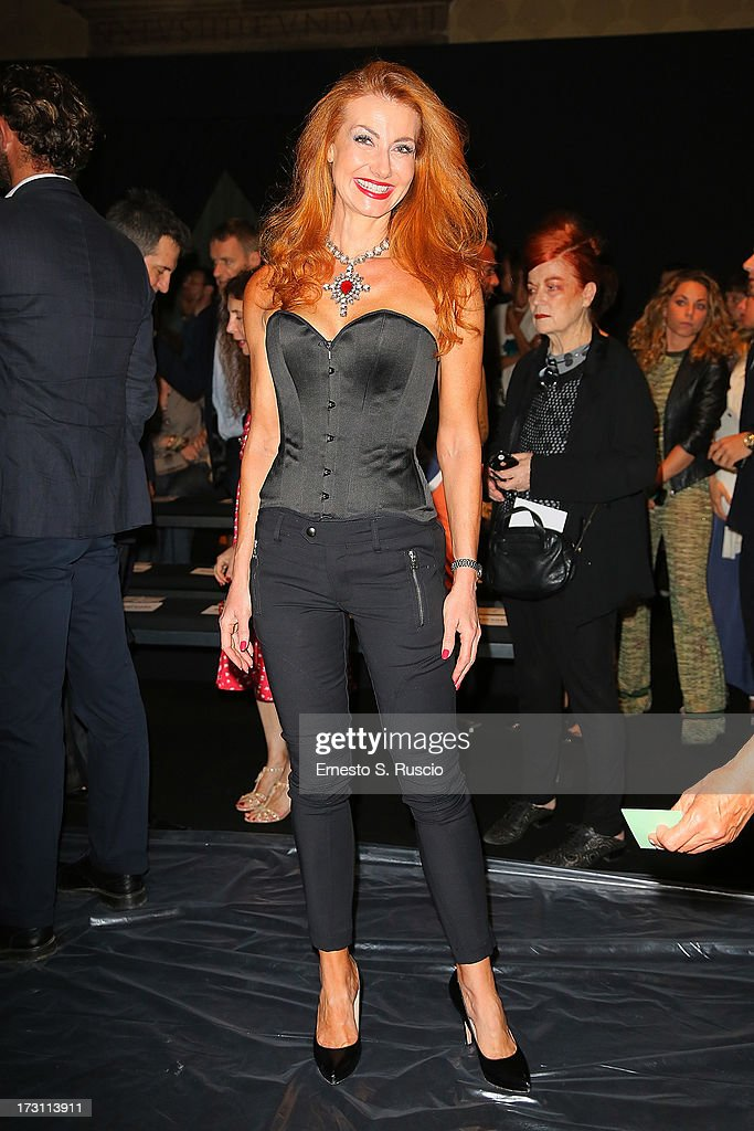 Valeria Mangani attends the Jean Paul Gaultier Couture fashion show as part of AltaRoma AltaModa Fashion Week Autumn/Winter 2013 on July 7, 2013 in Rome, Italy.