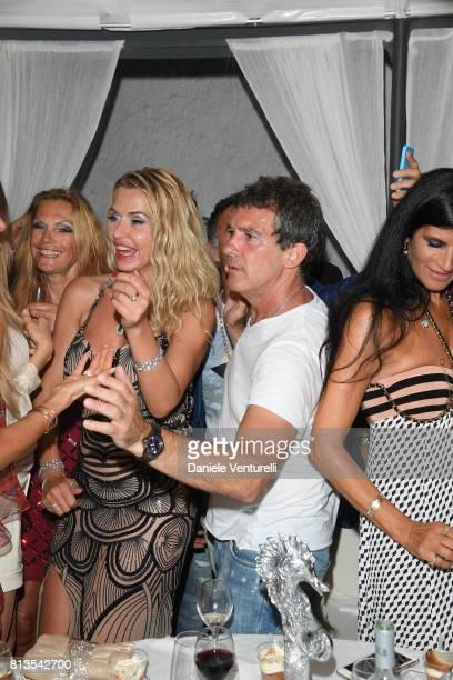 Valeria Marini and Antonio Banderas attend 2017 Ischia Global Film Music Fest on July 12 2017 in Ischia Italy