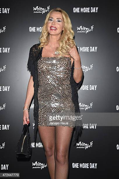 Valeria Marini attends the 'One More Day' premiere on May 7, 2015 in Milan, Italy.