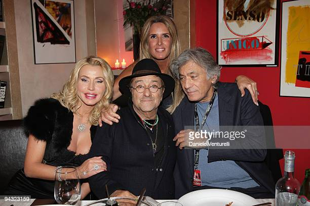 WEEKS Valeria Marini Lucio Dalla Tiziana Rocca and David Zard attend the 'Tosca amore disperato' at the Gran Teatro Theatre on December 11 2009 in...