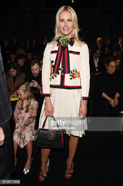 Valeria Mazza attends the Gucci show during Milan Fashion Week Fall/Winter 2016/17 on February 24 2016 in Milan Italy