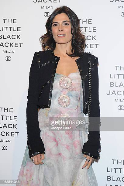 Valeria Solarino attends Chanel The Little Black Jacket - Karl Lagerfeld Photography Exhibition Dinner Party on April 4, 2013 in Milan, Italy.