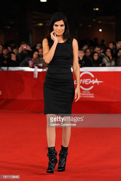 Valeria Solarino walks the red carpet during the 6th International Rome Film Festival on November 1 2011 in Rome Italy