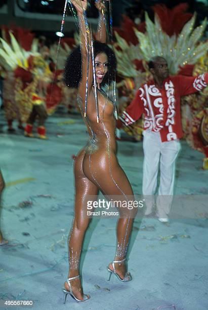 Valeria Valenssa former Mulata Globeleza Samba Schools Parade Rio de Janeiro Brazil