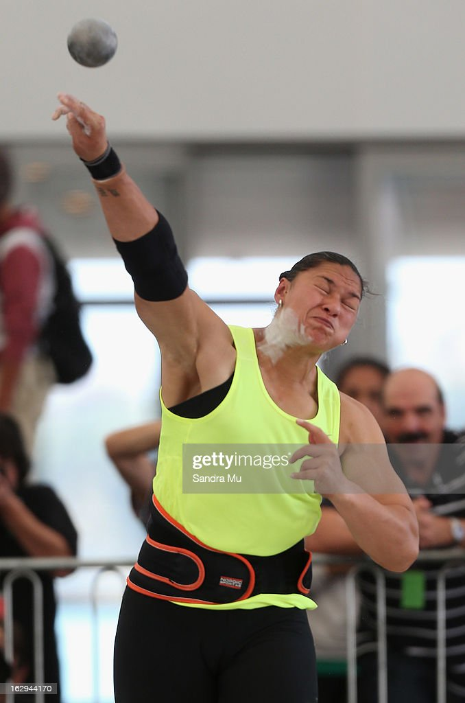 Valerie Adams competes in The Shot In The City at The Cloud on Queen's Wharf on March 2, 2013 in Auckland, New Zealand.