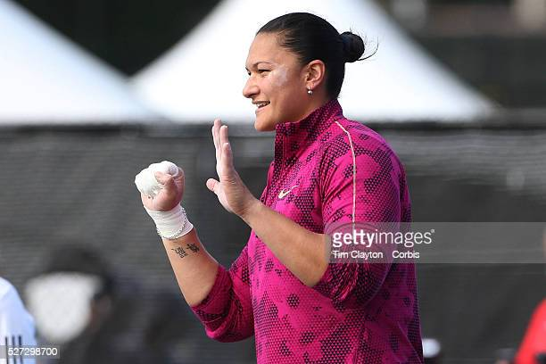 Valerie Adams New Zealand in action in the Women's Shot Put while winning her 50th consecutive competition during the Diamond League Adidas Grand...