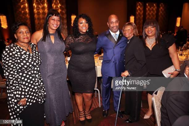Valerie Bell, Dominique Sharpton-Bright, One Hundred Black Men, Inc. President Michael J. Garner, Hazel Dukes, and Ashley Sharpton attend the 40th...