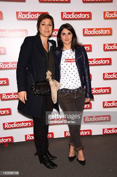 Valerie Benguigui and Geraldine Nakache attend 'Radiostars' premiere at Cinema UGC Normandie on April 2 2012 in Paris France