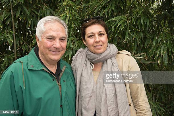 Valerie Benguigui and her Father Maurice celebrity sightings during the french open at Roland Garros on June 4 2012 in Paris France